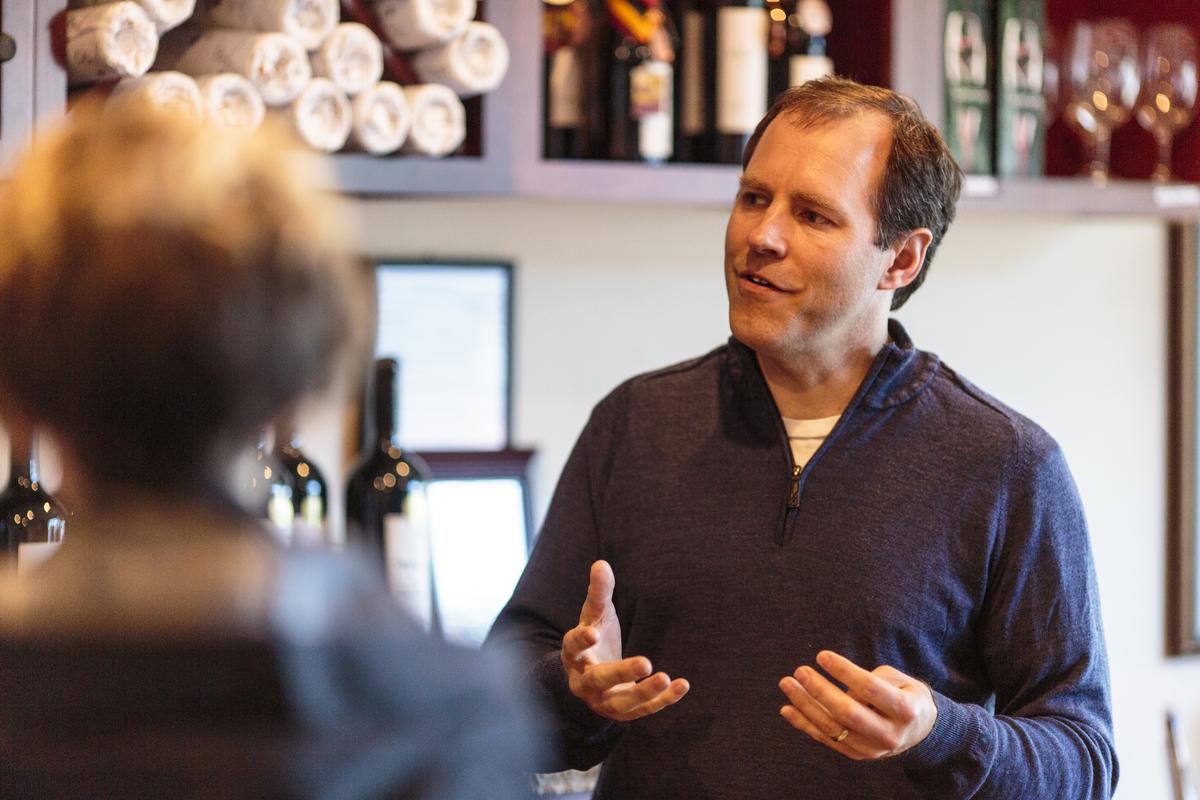 Ken Abbott - Obelisco Estate Winery Tasting Room